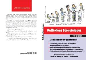 Read more about the article Parution du premier numéro de la revue Réflexions Économiques portant sur les questions d'éducation